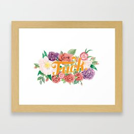 Profanity Flowers #1: F*CK Framed Art Print