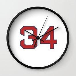 34 Redsox Boston Wall Clock