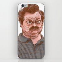 swanson iPhone & iPod Skins featuring Swanson by Hannah Joe