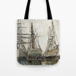 Boats by Claude Monet, 1873 Tote Bag