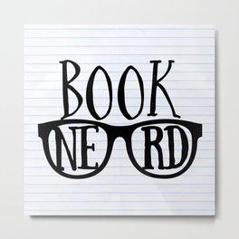 Book Nerd (lined paper) Metal Print