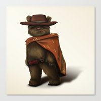 ewok Canvas Prints featuring Clint Ewok by Kirye