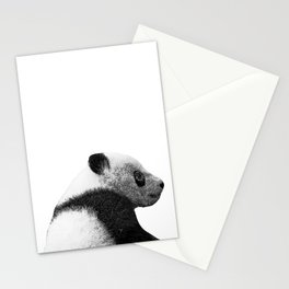 baby panda b&w Stationery Cards