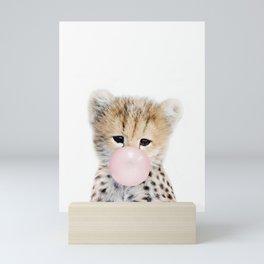 Bubble Gum Cheetah Cub Mini Art Print