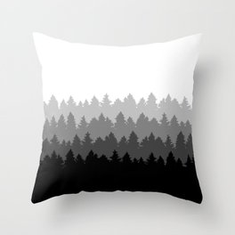 Fading Treeline Throw Pillow