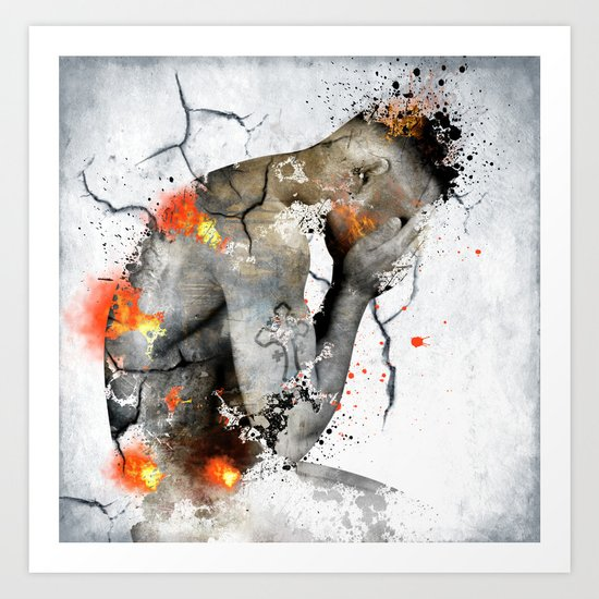 nude explore  Art Print