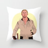 ryan gosling Throw Pillows featuring Drive - Ryan Gosling by Just Jolt