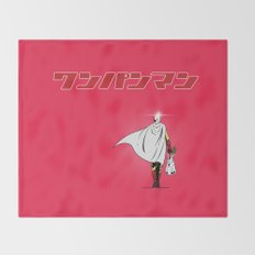 One Punch Man Grocery Throw Blanket