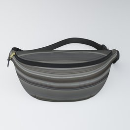Classic Taupe Dark Grey Stripes Fanny Pack