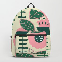 Modern flowers and leaves Backpack