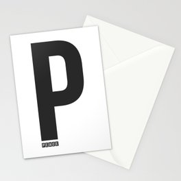 P - Peace Stationery Cards