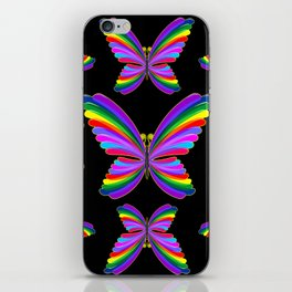 Butterfly Psychedelic Rainbow iPhone Skin