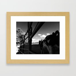 Chain Link and Fence Framed Art Print