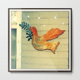 Dove Peace Ornament  Metal Print