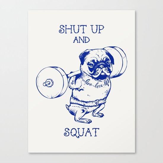 Pug Squat Canvas Print