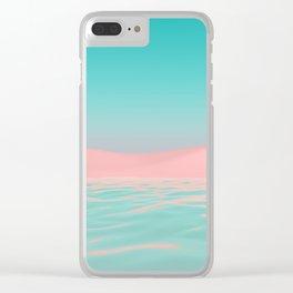 Pink Beach Clear iPhone Case