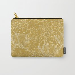 Mustard Succulents Carry-All Pouch