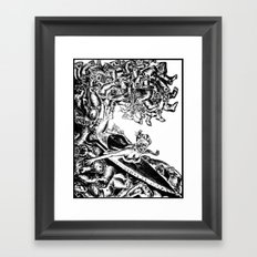 Surfing on Childhood Framed Art Print