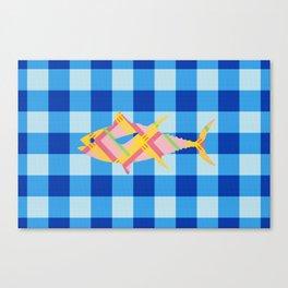 FISH STRIPES Canvas Print