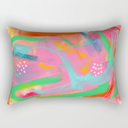 Abstract Colorful Modern Acrylic - BE POSITIVE, BE OK Rectangular Pillow
