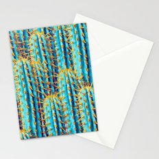 Neon Gold Cactus Stationery Cards