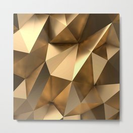 golde Triangles Metal Print