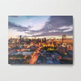 New York City Skyline - Evening Metal Print