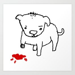poor dog Art Print