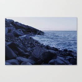 Rocks by the Sea Canvas Print
