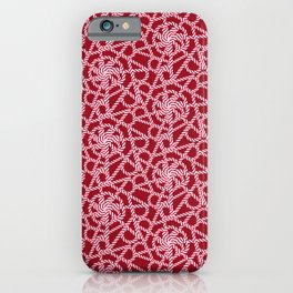 Candy cane flower pattern 1a iPhone Case