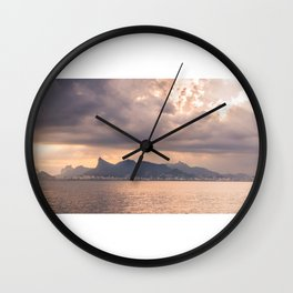 Heavens Burst over Christ the Redeemer Wall Clock