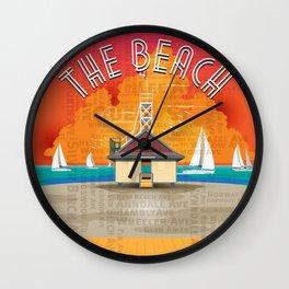 The Beach Wall Clock