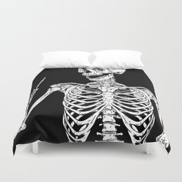 Rock and Roll Skeleton Duvet Cover