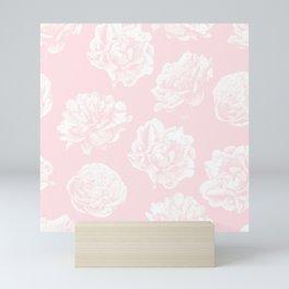 Pink Roses in Flamingo Pink Mini Art Print