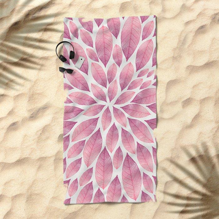 Petal Burst #10 Beach Towel