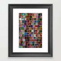 Glass tiles Framed Art Print
