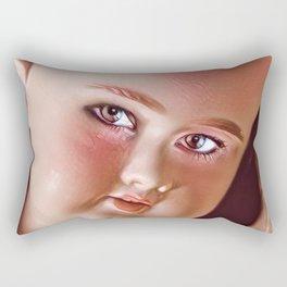 Pink Doll Face Rectangular Pillow