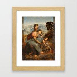 Anna selbdritt by Leonardo da Vinci Framed Art Print
