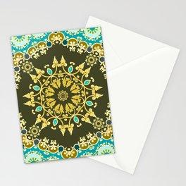 Golden mandala Stationery Cards