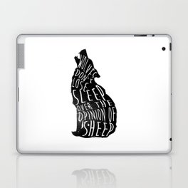 Wolves dont lose sleep over the opinion of sheep - version 1 - no background Laptop & iPad Skin