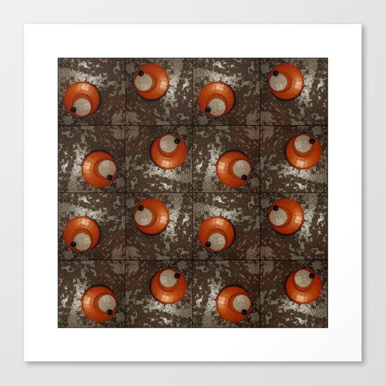 Salad Spinner Pattern Canvas Print