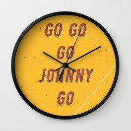 Go go - go Johnny go – A Hell Songbook Edition Wall Clock