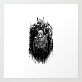 Black Swordsman Art Print