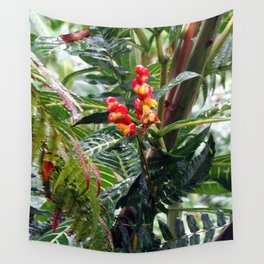 Tropical Heliconia Flowers 03 Wall Tapestry