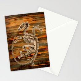 Raptor Skeleton Stationery Cards