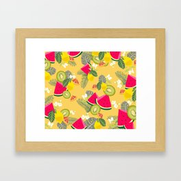 Tropical Fruits Framed Art Print
