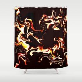 Burn baby burn Shower Curtain