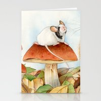 beaver Stationery Cards featuring Mouse & Beaver by Patrizia Donaera ILLUSTRATIONS