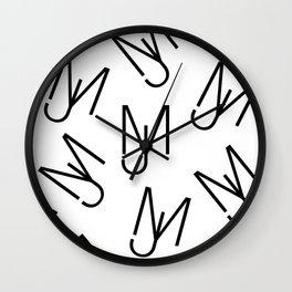 Jeff Martin - Repeating - White Wall Clock