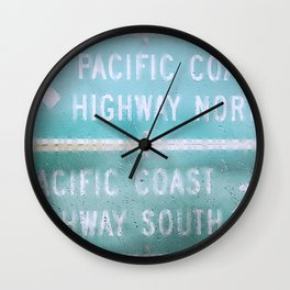 Pacific Rain Wall Clock